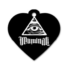Illuminati Dog Tag Heart (one Side) by Valentinaart