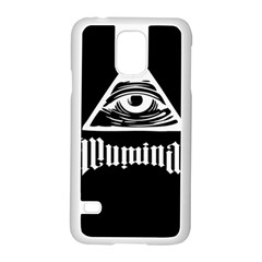 Illuminati Samsung Galaxy S5 Case (white) by Valentinaart