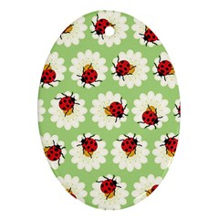 Ladybugs Pattern Ornament (oval) by linceazul