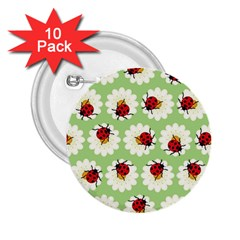 Ladybugs Pattern 2 25  Buttons (10 Pack)  by linceazul