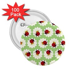 Ladybugs Pattern 2 25  Buttons (100 Pack)  by linceazul