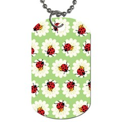 Ladybugs Pattern Dog Tag (one Side) by linceazul