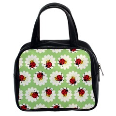 Ladybugs Pattern Classic Handbags (2 Sides) by linceazul