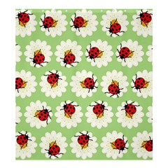 Ladybugs Pattern Shower Curtain 66  X 72  (large)  by linceazul