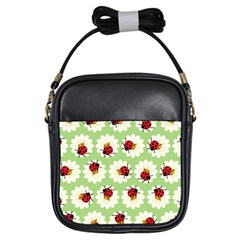Ladybugs Pattern Girls Sling Bags by linceazul