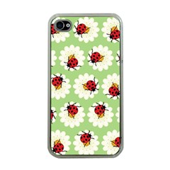 Ladybugs Pattern Apple Iphone 4 Case (clear) by linceazul