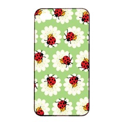 Ladybugs Pattern Apple Iphone 4/4s Seamless Case (black) by linceazul