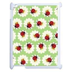 Ladybugs Pattern Apple Ipad 2 Case (white) by linceazul