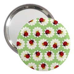 Ladybugs Pattern 3  Handbag Mirrors by linceazul