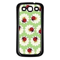 Ladybugs Pattern Samsung Galaxy S3 Back Case (black) by linceazul