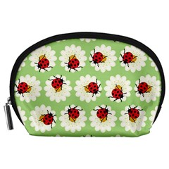 Ladybugs Pattern Accessory Pouches (large)  by linceazul