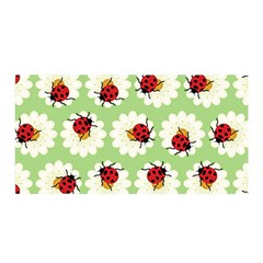 Ladybugs Pattern Satin Wrap by linceazul