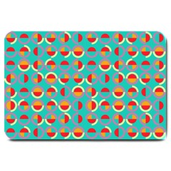 Semicircles And Arcs Pattern Large Doormat  by linceazul