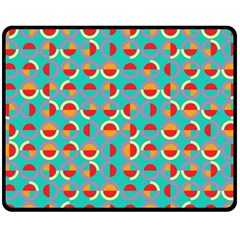 Semicircles And Arcs Pattern Fleece Blanket (medium)  by linceazul