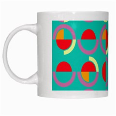 Semicircles And Arcs Pattern White Mugs by linceazul
