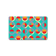 Semicircles And Arcs Pattern Magnet (name Card) by linceazul