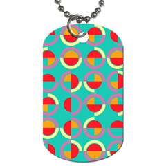 Semicircles And Arcs Pattern Dog Tag (one Side) by linceazul