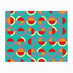 Semicircles And Arcs Pattern Small Glasses Cloth (2 Side) by linceazul