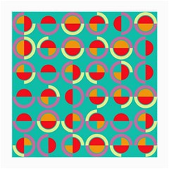 Semicircles And Arcs Pattern Medium Glasses Cloth by linceazul