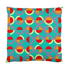 Semicircles And Arcs Pattern Standard Cushion Case (two Sides) by linceazul