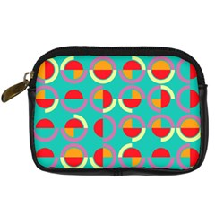 Semicircles And Arcs Pattern Digital Camera Cases by linceazul