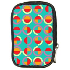 Semicircles And Arcs Pattern Compact Camera Cases by linceazul