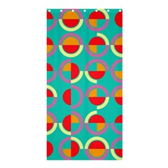 Semicircles And Arcs Pattern Shower Curtain 36  X 72  (stall)  by linceazul