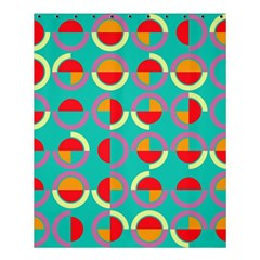 Semicircles And Arcs Pattern Shower Curtain 60  X 72  (medium)  by linceazul