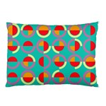 Semicircles And Arcs Pattern Pillow Case (Two Sides) Back