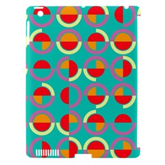 Semicircles And Arcs Pattern Apple Ipad 3/4 Hardshell Case (compatible With Smart Cover) by linceazul