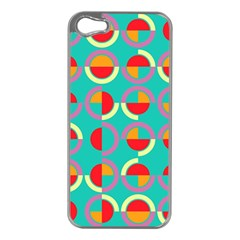 Semicircles And Arcs Pattern Apple Iphone 5 Case (silver) by linceazul