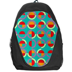 Semicircles And Arcs Pattern Backpack Bag by linceazul