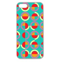 Semicircles And Arcs Pattern Apple Seamless Iphone 5 Case (clear) by linceazul