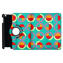 Semicircles And Arcs Pattern Apple Ipad 3/4 Flip 360 Case by linceazul
