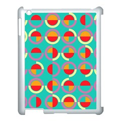 Semicircles And Arcs Pattern Apple Ipad 3/4 Case (white) by linceazul