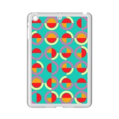Semicircles And Arcs Pattern Ipad Mini 2 Enamel Coated Cases by linceazul
