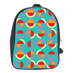Semicircles And Arcs Pattern School Bags (xl)  by linceazul