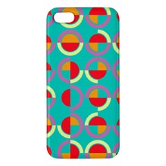 Semicircles And Arcs Pattern Apple Iphone 5 Premium Hardshell Case by linceazul