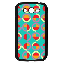 Semicircles And Arcs Pattern Samsung Galaxy Grand Duos I9082 Case (black) by linceazul