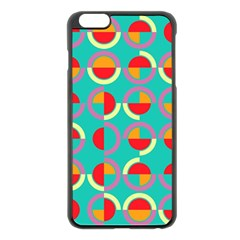 Semicircles And Arcs Pattern Apple Iphone 6 Plus/6s Plus Black Enamel Case by linceazul