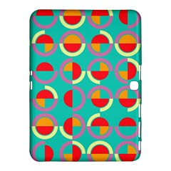 Semicircles And Arcs Pattern Samsung Galaxy Tab 4 (10 1 ) Hardshell Case  by linceazul