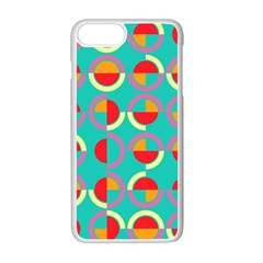Semicircles And Arcs Pattern Apple Iphone 7 Plus White Seamless Case by linceazul