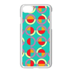 Semicircles And Arcs Pattern Apple Iphone 7 Seamless Case (white) by linceazul
