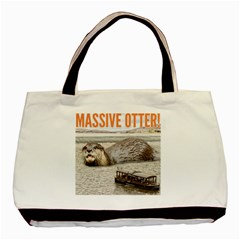 Massive Otter! Basic Tote Bag (two Sides) by RakeClag