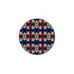 Colorful Bright Seamless Flower Pattern Golf Ball Marker (4 Pack) by Costasonlineshop