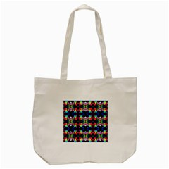 Colorful Bright Seamless Flower Pattern Tote Bag (cream) by Costasonlineshop