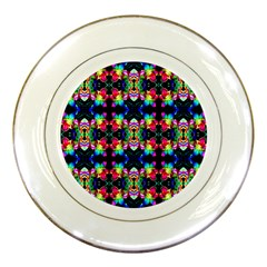 Colorful Bright Seamless Flower Pattern Porcelain Plates by Costasonlineshop