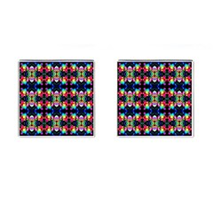 Colorful Bright Seamless Flower Pattern Cufflinks (square) by Costasonlineshop