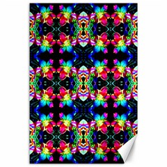 Colorful Bright Seamless Flower Pattern Canvas 24  X 36  by Costasonlineshop