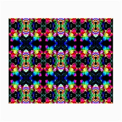Colorful Bright Seamless Flower Pattern Small Glasses Cloth (2 Side) by Costasonlineshop